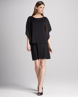 DKNY Sheer Overlay Dress