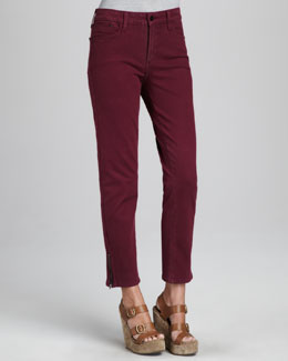 NYDJ Chloe Sueded Ankle Jeans