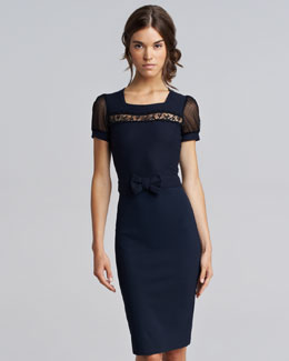 RED Valentino Macrame Jersey Dress