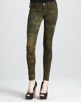 True Religion Halle Military Tie-Dye High-Rise Skinny Jeans