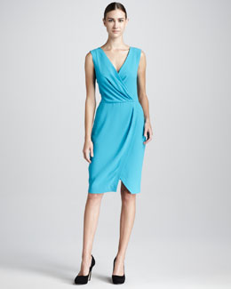 Rachel Roy Basic Faux-Wrap Dress