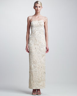 Sue Wong Beaded Column Gown