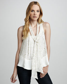 Elizabeth and James Owen Shimmery Top