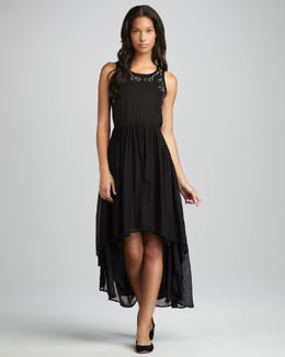 Patterson J. Kincaid Gallo High-Low Maxi Dress