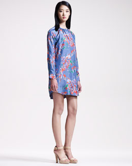 10 Crosby Derek Lam Floral-Print Tunic Dress