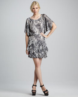 Rachel Zoe Adele Printed Dolman Dress