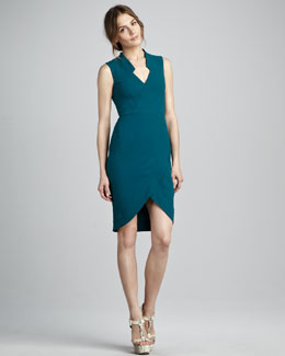 Rachel Zoe Annabel Fitted Crepe Dress