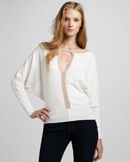 Elizabeth and James Dolman-Sleeve Sweater