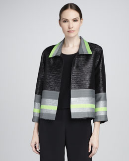 Caroline Rose Soiree Jacquard Jacket