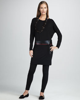 Eileen Fisher Jersey V-Neck Dress