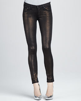 AG Adriano Goldschmied Super Skinny Bronze Knit Leggings
