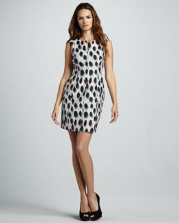 Diane von Furstenberg New Summer Animal Dots Minidress