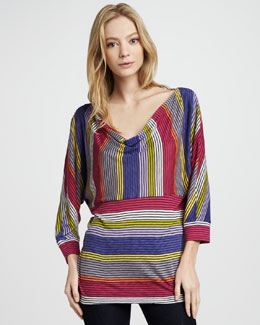Splendid Camden Striped Draped Top