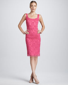 Kalinka Scoop-Neck Lace Cocktail Dress
