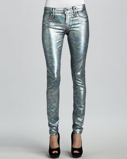 Sinclair Coe Mystic Moon Swirl Metallic Leggings