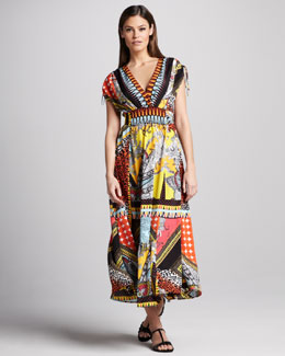 Indikka Patchwork Paisley-Print Dress
