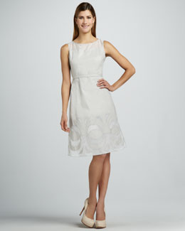 Lafayette 148 New York Veda Embroidered Dress