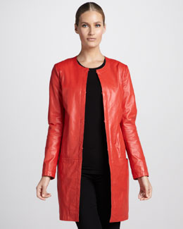 Neiman Marcus Leather Duster Jacket