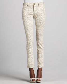 Christopher Blue Sophia Animal-Print Skinny Jeans