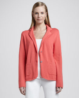 Minnie Rose Knit Two-Button Blazer
