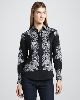 Robert Graham Godfrey Printed Blouse