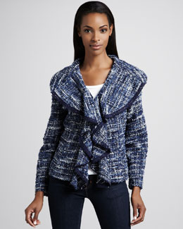 Berek Hamptons Tweed Weekend Jacket, Petite