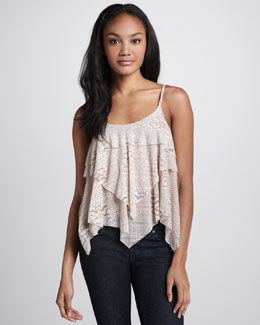 Free People Snake-Print Layered Tank