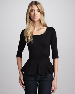 Amanda Uprichard Ponte Peplum Top