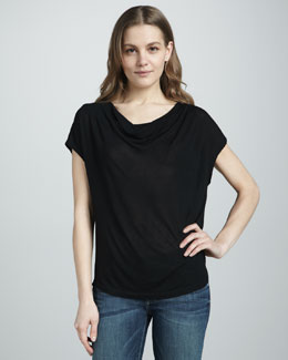 Splendid Draped Jersey Top