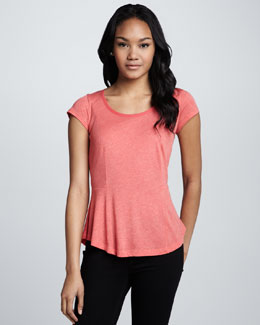Splendid Melange Scoop-Neck Top