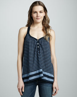 Splendid Striped Sleeveless Top