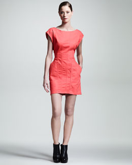 Kelly Wearstler Mineral Cap-Sleeve Minidress