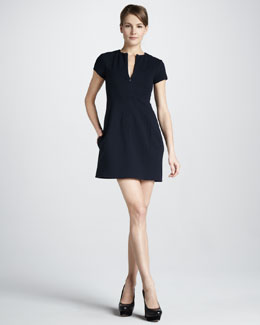 Diane von Furstenberg Agatha Knit Suiting Dress