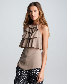 Cut25 Tiered Ruffled Top