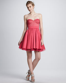 Aidan by Aidan Mattox Strapless Flared Cocktail Dress