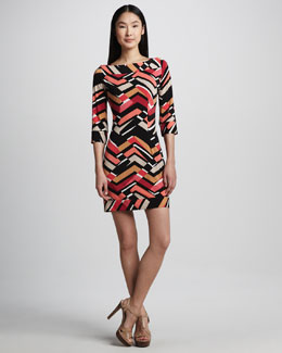Melissa Masse Abstract Print Jersey Dress