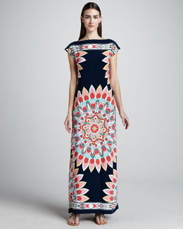 Melissa Masse Kaleidoscope-Print Jersey Dress