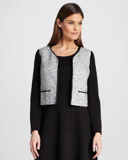 Kay Unger New York Long-Sleeve Tweed Jacket