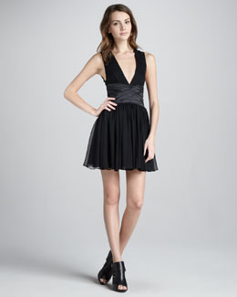 Elizabeth and James Jana Swingy Chiffon Dress
