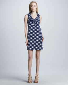 kate spade new york lucille sleeveless lattice-knit dress