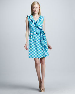 kate spade new york aubrey gingham wrap dress