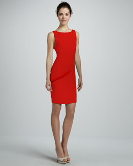 Alice + Olivia Spelling Side-Peplum Dress