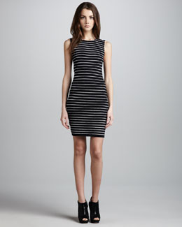 Alice + Olivia Dee Stripe Fitted Dress