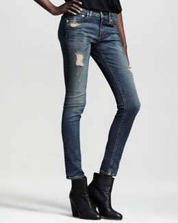 rag & bone/JEAN Ripped Skinny Warren Jeans