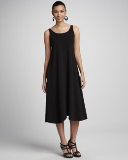 Eileen Fisher Sleeveless Jersey Maxi Dress, Black