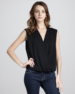 Haute Hippie Sleeveless Blouson Top