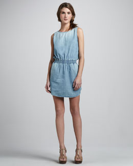 AG Adriano Goldschmied Joni Denim Sleeveless Dress