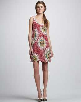 Nanette Lepore Medallion Printed Sleeveless Dress
