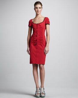 Nanette Lepore Rattlesnake Cap-Sleeve Dress