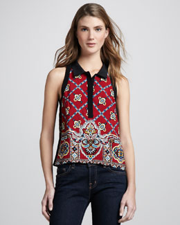 Nanette Lepore Bandana Sleeveless Top